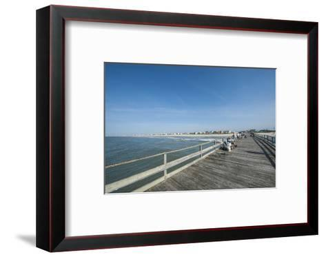 Oceanana Fishing Pier Atlantic Beach Outer Banks Michael Defreitas Framed Art Print