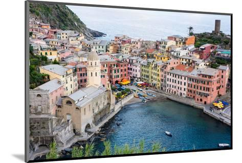 High Angle View of Vernazza, Cinque Terre, UNESCO World Heritage Site, Liguria, Italy, Europe-Peter Groenendijk-Mounted Photographic Print