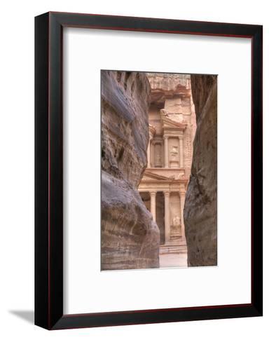 The Treasury as Seen from the Siq, Petra, Jordan, Middle East-Richard Maschmeyer-Framed Art Print