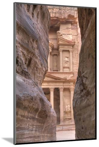 The Treasury as Seen from the Siq, Petra, Jordan, Middle East-Richard Maschmeyer-Mounted Photographic Print