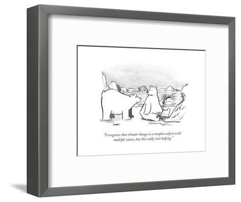 """""""I recognize that climate change is a complex subject with multiple causes?"""" - Cartoon-Benjamin Schwartz-Framed Art Print"""