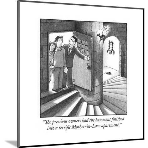 """The previous owners had the basement finished into a terrific Mother-in-L?"" - Cartoon-Harry Bliss-Mounted Premium Giclee Print"