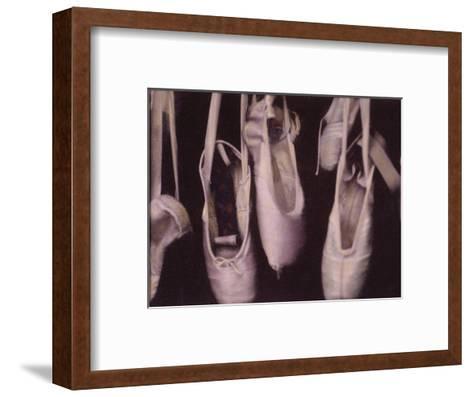 Worn Ballet Shoes Hanging in a Window-Jim Kelly-Framed Art Print