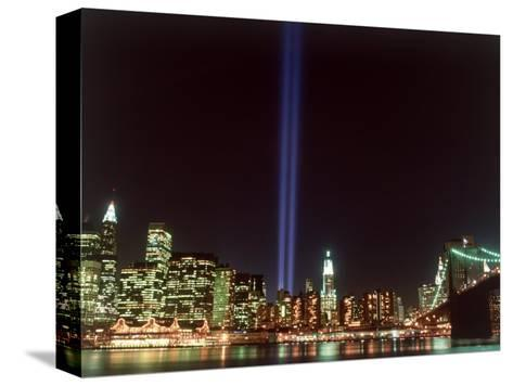 World Trade Center Memorial Lights, New York City-Rudi Von Briel-Stretched Canvas Print