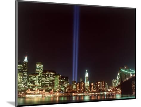 World Trade Center Memorial Lights, New York City-Rudi Von Briel-Mounted Photographic Print