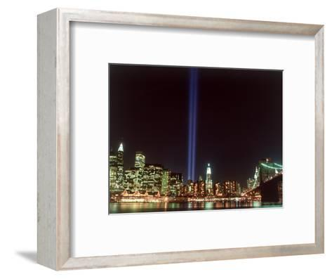 World Trade Center Memorial Lights, New York City-Rudi Von Briel-Framed Art Print