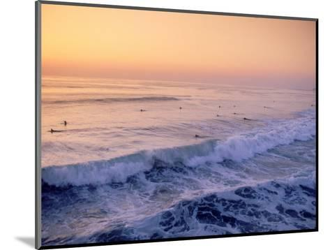 Surfers, Mission Beach, San Diego, California-James Lemass-Mounted Photographic Print