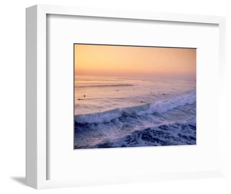 Surfers, Mission Beach, San Diego, California-James Lemass-Framed Art Print