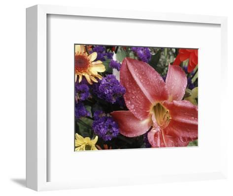 Flowers Sprinkled with Dew-Mitch Diamond-Framed Art Print