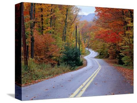Hollywood Rd at Route 28, Adirondack Mountains, NY-Jim Schwabel-Stretched Canvas Print