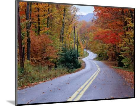 Hollywood Rd at Route 28, Adirondack Mountains, NY-Jim Schwabel-Mounted Photographic Print