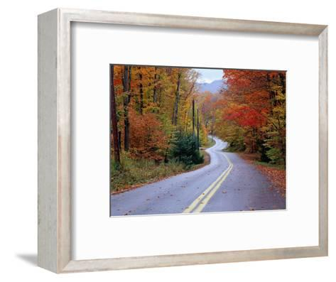 Hollywood Rd at Route 28, Adirondack Mountains, NY-Jim Schwabel-Framed Art Print