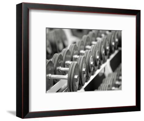 Free Weights in Rack-Bob Winsett-Framed Art Print