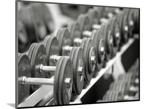 Free Weights in Rack-Bob Winsett-Mounted Photographic Print