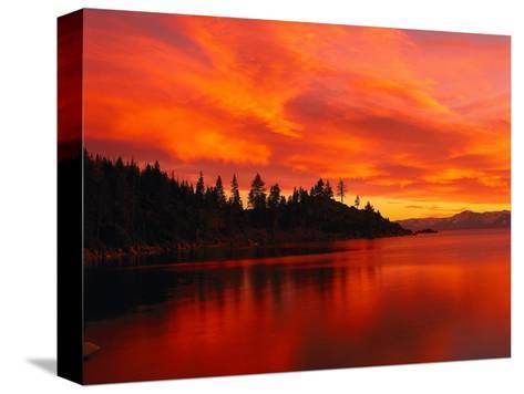 Sunset, Sierra Mountains, Lake Tahoe, CA-Kyle Krause-Stretched Canvas Print