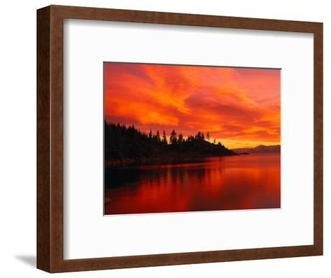 Sunset, Sierra Mountains, Lake Tahoe, CA-Kyle Krause-Framed Art Print