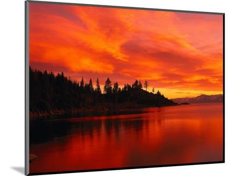 Sunset, Sierra Mountains, Lake Tahoe, CA-Kyle Krause-Mounted Photographic Print