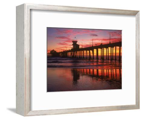Huntington Beach Pier, CA-Michele Burgess-Framed Art Print