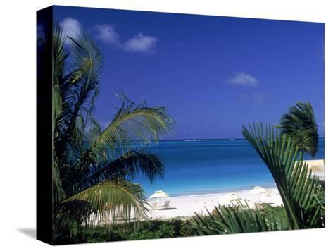 Tropical Beach, Turks and Caicos Islands-Timothy O'Keefe-Stretched Canvas Print