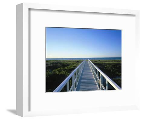Long Island, Ny, Architectural Detail of Bridge-Lonnie Duka-Framed Art Print