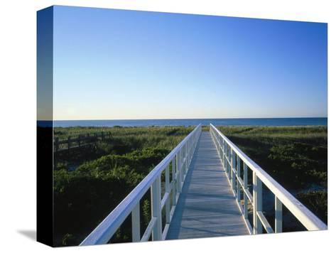 Long Island, Ny, Architectural Detail of Bridge-Lonnie Duka-Stretched Canvas Print