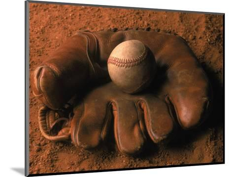 Baseball Glove with Ball on Dirt-John T^ Wong-Mounted Photographic Print