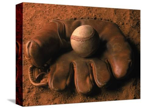 Baseball Glove with Ball on Dirt-John T^ Wong-Stretched Canvas Print