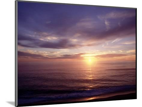 Sunrise on Nuset Beach, Cape Cod, MA-John Greim-Mounted Photographic Print