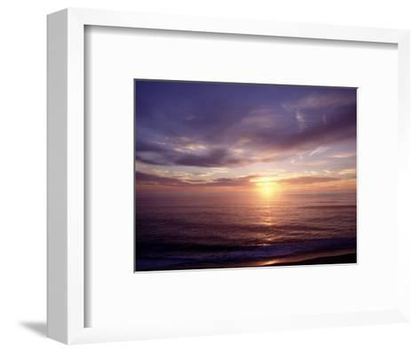 Sunrise on Nuset Beach, Cape Cod, MA-John Greim-Framed Art Print