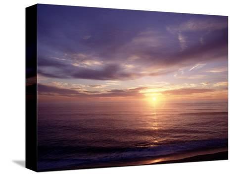 Sunrise on Nuset Beach, Cape Cod, MA-John Greim-Stretched Canvas Print
