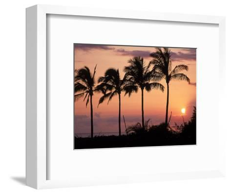 Sunset Over Kihei, Maui, Hawaii-Chris Rogers-Framed Art Print