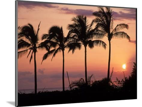 Sunset Over Kihei, Maui, Hawaii-Chris Rogers-Mounted Photographic Print