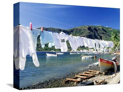 Drying Laundry on the Beach, St. Lucia-Angelo Cavalli-Stretched Canvas Print