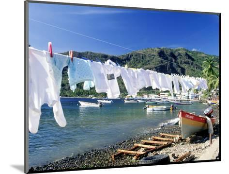 Drying Laundry on the Beach, St. Lucia-Angelo Cavalli-Mounted Photographic Print