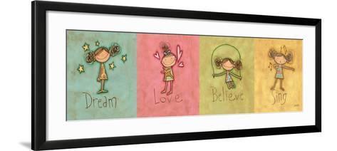 Dream, Love Believe and Sing Panel-Anne Tavoletti-Framed Art Print