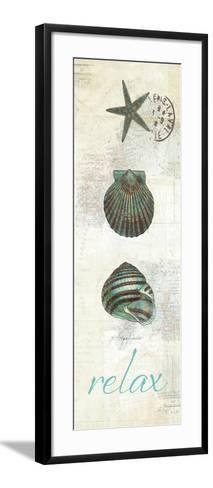 Touch of Blue Shells I-Katie Pertiet-Framed Art Print