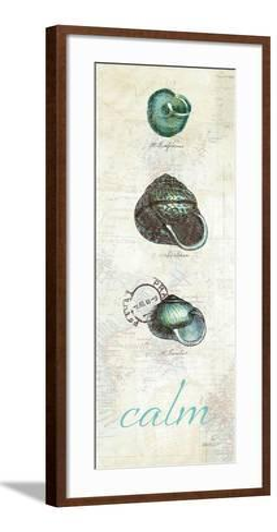 Touch of Blue Shells II-Katie Pertiet-Framed Art Print