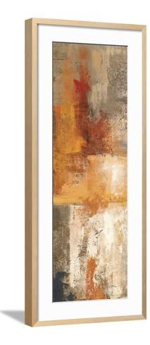 Silver and Amber Panel I--Framed Art Print