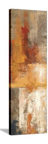 Silver and Amber Panel I--Stretched Canvas Print