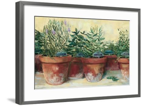 Potted Herbs I-Carol Rowan-Framed Art Print