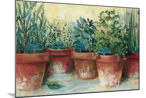 Potted Herbs II-Carol Rowan-Mounted Art Print
