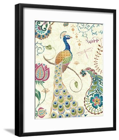 Peacock Fantasy II-Daphne Brissonnet-Framed Art Print