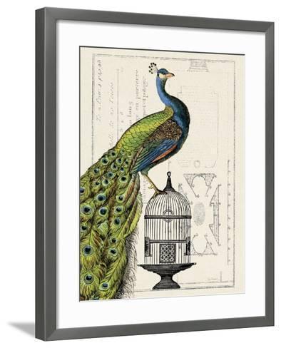 Peacock Birdcage I-Hugo Wild-Framed Art Print