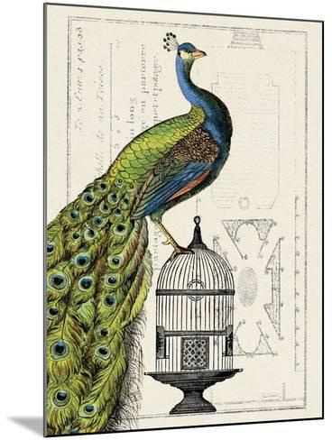 Peacock Birdcage I-Hugo Wild-Mounted Art Print