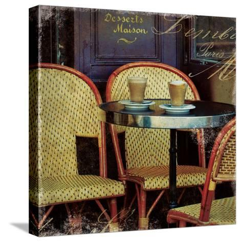 Parisian Cafe I-Wild Apple Photography-Stretched Canvas Print