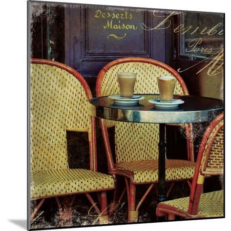 Parisian Cafe I-Wild Apple Photography-Mounted Art Print