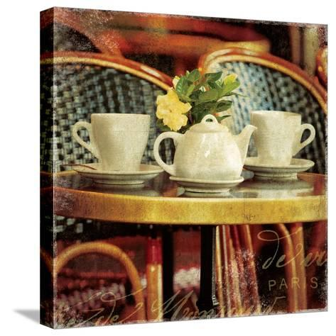 Parisian Cafe II-Wild Apple Photography-Stretched Canvas Print