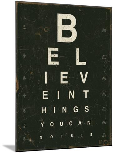 Eye Chart III-Jess Aiken-Mounted Art Print