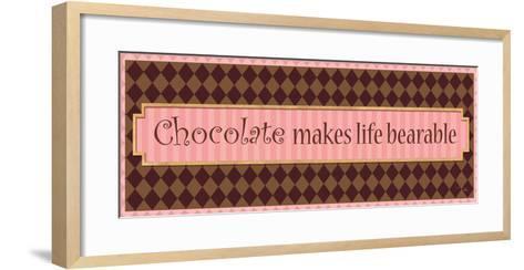 Chocolate makes life bearable-Alain Pelletier-Framed Art Print