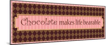 Chocolate makes life bearable-Alain Pelletier-Mounted Premium Giclee Print